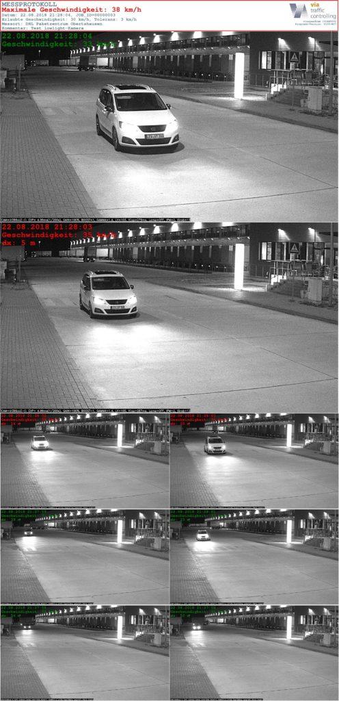 zdjęcia kamery z tablicą radarową